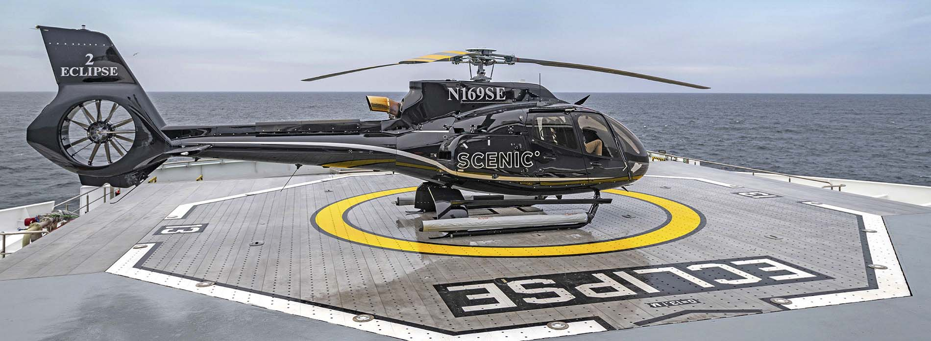Scenic Eclipse Helicopter Heli Deck
