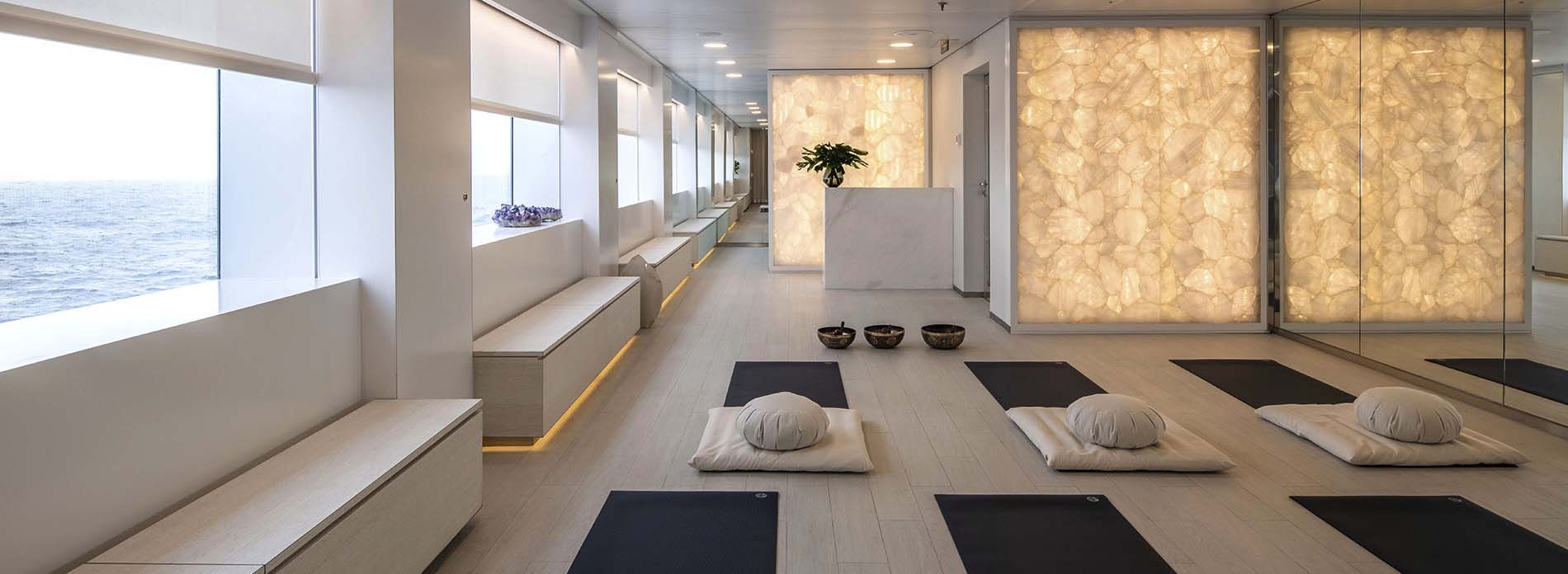Scenic Eclipse Yoga and Pilates studio