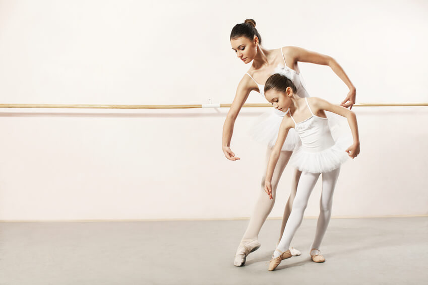 Ballet Teacher and Student